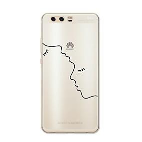 voordelige Huawei Honor hoesjes / covers-hoesje Voor Huawei P9 / Huawei P9 Lite / Huawei P8 P10 Plus / P10 Lite / P10 Patroon Achterkant Lijnen / golven / Hart / Sexy dame Zacht TPU / Huawei P9 Plus