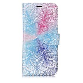 voordelige Galaxy S7 Edge Hoesjes / covers-hoesje Voor Samsung Galaxy S8 Plus / S8 / S7 edge Portemonnee / Kaarthouder / Flip Volledig hoesje Mandala Hard PU-nahka