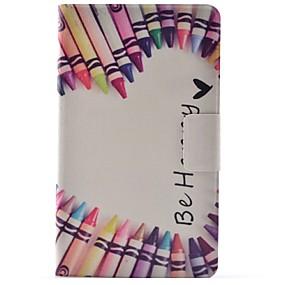 voordelige Galaxy Tab 4 7.0 Hoesjes / covers-hoesje Voor Samsung Galaxy Tab 4 7.0 Kaarthouder / met standaard / Flip Volledig hoesje Woord / tekst Hard PU-nahka