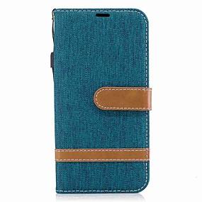 voordelige Galaxy J3 Hoesjes / covers-hoesje Voor Samsung J5 (2017) / J5 (2016) / J3 (2017) Portemonnee / Kaarthouder / Schokbestendig Volledig hoesje Effen Hard tekstiili