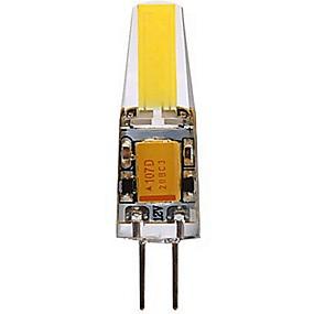 رخيصةأون مصابيح ليد ثنائية-SENCART 1PC 4 W أضواء LED Bi Pin 400-450 lm G4 T 1 الخرز LED COB ديكور أبيض دافئ أبيض كول 12 V
