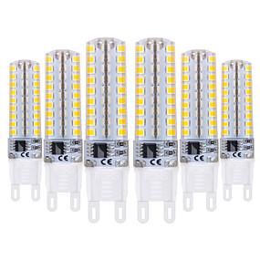 abordables Luces LED de Doble Pin-YWXLIGHT® 6pcs 5 W Luces LED de Doble Pin 400-500 lm G9 T 72 Cuentas LED SMD 2835 Regulable Blanco Cálido Blanco Fresco 220-240 V