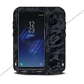 halpa Galaxy S -sarjan kotelot / kuoret-Etui Käyttötarkoitus Samsung Galaxy S8 Plus / S8 Vesi / Dirt / Shock Proof Suojakuori Yhtenäinen Kova Metalli varten S8 Plus / S8