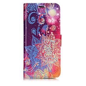 halpa Galaxy S -sarjan kotelot / kuoret-Etui Käyttötarkoitus Samsung Galaxy S8 Plus / S8 Lomapkko / Korttikotelo / Tuella Suojakuori Lace Printing Kova PU-nahka varten S8 Plus / S8 / S7 edge