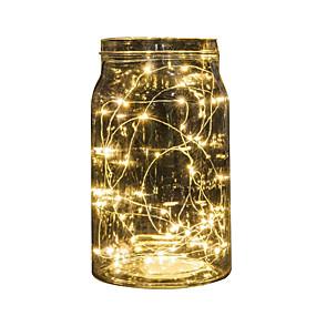 お買い得  ホーム&キッチン-2メートル文字列ライト20 ledsマルチカラーledフェアリーストリップランプ用ウェディングパーティーイベントクリスマスデコレーションバッテリー駆動