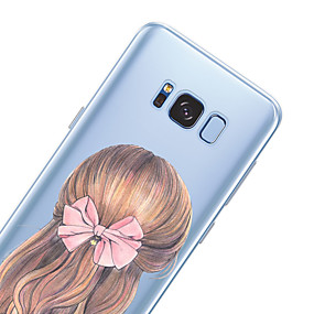 voordelige Galaxy S6 Edge Plus Hoesjes / covers-hoesje Voor Samsung Galaxy S8 Plus / S8 / S7 edge Patroon Achterkant Sexy dame Zacht TPU