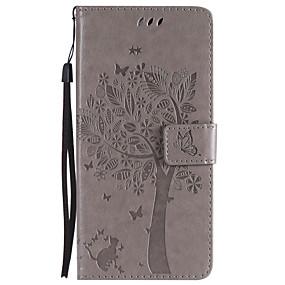 Недорогие Чехлы и кейсы для Galaxy S5 Mini-Кейс для Назначение SSamsung Galaxy S9 / S9 Plus / S8 Plus Кошелек / Бумажник для карт / со стендом Чехол Кот / дерево Твердый Кожа PU
