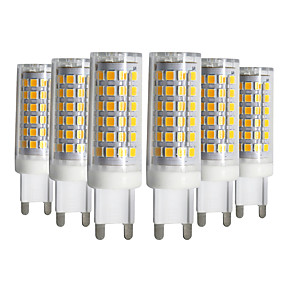 abordables Luces LED de Doble Pin-ywxlight® 5pcs regulable g9 9w 76led 2835smd lámpara de maíz blanco cálido blanco natural blanco led lámpara de cerámica ac 220-240v