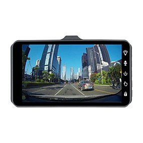 voordelige Auto DVR's-ziqiao jl-a6t 1080p full hd dual lens auto dvr camera nachtzicht videorecorder parkeermonitor