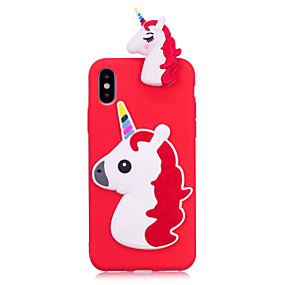 abordables Coques d'iPhone-Coque Pour Apple iPhone X / iPhone 8 Plus Squishy Coque Licorne Flexible TPU pour iPhone X / iPhone 8 Plus / iPhone 8