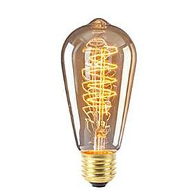billige Glødelamper-1pc 40 W 360 lm E26 / E27 ST64 Edison Bulb LED Perler SMD Dæmpbar Dekorativ Varm hvid 220-240 V