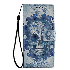 cheap Sony-Case For Sony Xperia XZ1 / Xperia XA1 Wallet / Card Holder / with Stand Full Body Cases Skull Hard PU Leather for Sony Xperia XZ1 / Sony Xperia XZ Premium / Sony Xperia XA1