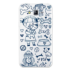 voordelige Galaxy J7 Hoesjes / covers-hoesje Voor Samsung Galaxy J7 (2017) / J7 (2016) / J7 Patroon Achterkant Hond / Cartoon Zacht TPU