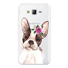voordelige Galaxy J7 Hoesjes / covers-hoesje Voor Samsung Galaxy J7 (2017) / J7 (2016) / J7 Patroon Achterkant Hond / Cartoon / Bloem Zacht TPU