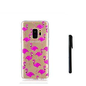 voordelige Galaxy S7 Edge Hoesjes / covers-hoesje Voor Samsung Galaxy S9 / S9 Plus / S8 Plus Doorzichtig Achterkant Flamingo Zacht TPU