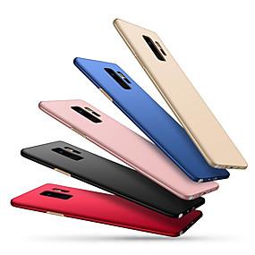 olcso Galaxy S tokok-Case Kompatibilitás Samsung Galaxy S9 Plus / S9 Ultra-vékeny Fekete tok Egyszínű Kemény PC mert S9 / S9 Plus / S8 Plus