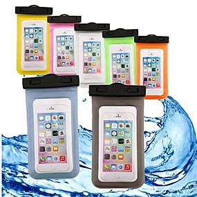 abordables Coques d'iPhone-VORMOR Coque Pour Apple iPhone 7 / iPhone 6 Imperméable / Portefeuille / Etanche Petit sac Couleur Pleine Flexible ABS + PC pour iPhone X / iPhone 8 Plus / iPhone 8