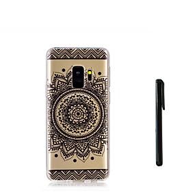 voordelige Galaxy S7 Edge Hoesjes / covers-hoesje Voor Samsung Galaxy S9 / S9 Plus / S8 Plus Doorzichtig Achterkant Mandala Zacht TPU