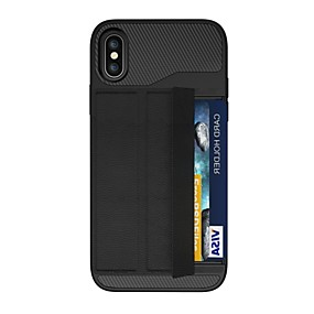 abordables Coques d'iPhone-Coque Pour Apple iPhone X / iPhone 8 Plus Porte Carte / Origami / Magnétique Coque Armure Dur PC pour iPhone X / iPhone 8 Plus / iPhone 8