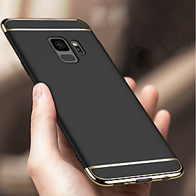 cheap Galaxy S Series Cases / Covers-Case For Samsung Galaxy S9 Plus / S9 Shockproof / Plating Back Cover Solid Colored Hard PC for S9 / S9 Plus / S8 Plus