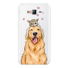 voordelige Galaxy J7 Hoesjes / covers-hoesje Voor Samsung Galaxy J7 (2017) / J7 (2016) / J7 Patroon Achterkant Kat / Hond / Cartoon Zacht TPU