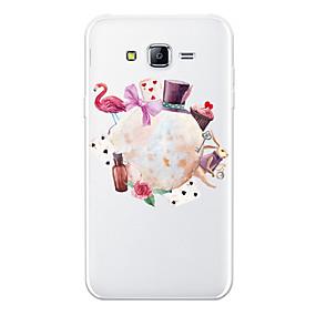 voordelige Galaxy J5 Hoesjes / covers-hoesje Voor Samsung Galaxy J7 (2017) / J7 (2016) / J7 Patroon Achterkant dier / Cartoon / Bloem Zacht TPU