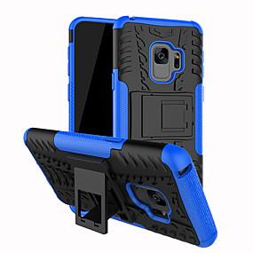 halpa Galaxy S -sarjan kotelot / kuoret-Etui Käyttötarkoitus Samsung Galaxy S9 Plus / S9 Iskunkestävä / Tuella Takakuori Panssari Kova PC varten S9 / S9 Plus / S8 Plus