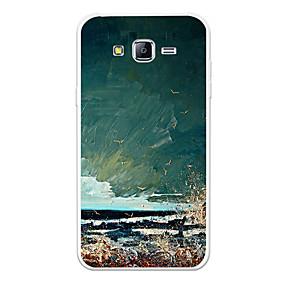 voordelige Galaxy J3 Hoesjes / covers-hoesje Voor Samsung Galaxy J7 (2017) / J7 (2016) / J7 Patroon Achterkant Landschap / Cartoon Zacht TPU