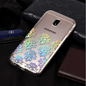 voordelige Galaxy J7 Hoesjes / covers-hoesje Voor Samsung Galaxy J7 (2017) / J7 (2016) / J7 Beplating / Patroon Achterkant Lace Printing Zacht TPU