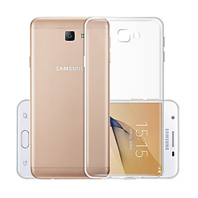 voordelige Galaxy J5(2017) Hoesjes / covers-hoesje Voor Samsung Galaxy J5 (2017) Transparant Achterkant Effen Zacht TPU