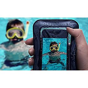 olcso iPhone tokok-Case Kompatibilitás Apple iPhone X / iPhone 7 Vízálló / Áttetsző Erszény Egyszínű Puha ABS + PC mert iPhone X / iPhone 8 Plus / iPhone 8