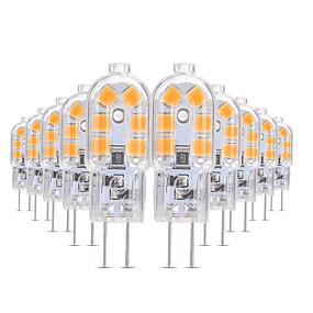 Недорогие Профессиональное освещение-YWXLIGHT® 10 шт. 3 W Двухштырьковые LED лампы 200-300 lm G4 T 12 Светодиодные бусины SMD 2835 Тёплый белый Холодный белый Естественный белый 12 V