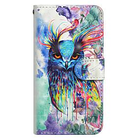 voordelige Galaxy J3 Hoesjes / covers-hoesje Voor Samsung Galaxy J7 (2017) / J6 / J5 (2017) Portemonnee / Kaarthouder / met standaard Volledig hoesje Uil Hard PU-nahka