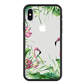 levne iPhone pouzdra-Carcasă Pro Apple iPhone X / iPhone 8 Plus Vzor Zadní kryt Rostliny / Plameňák / Komiks Pevné Akrylát pro iPhone X / iPhone 8 Plus / iPhone 8