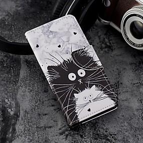levne Galaxy S pouzdra / obaly-Carcasă Pro Samsung Galaxy S9 Plus / S9 Peněženka / Pouzdro na karty / se stojánkem Celý kryt Kočka Pevné PU kůže pro S9 / S9 Plus / S8 Plus