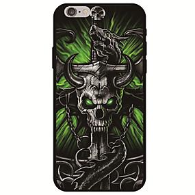 ราคาถูก เคสสำหรับ iPhone-Case สำหรับ Apple iPhone X / iPhone 8 Pattern ปกหลัง กระโหลก Soft TPU สำหรับ iPhone XS / iPhone XR / iPhone XS Max