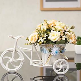 baratos Casa & Cozinha-Flores artificiais 1 Ramo Clássico Solteiro (L150 cm x C200 cm) Rústico Rosas Flor de Mesa