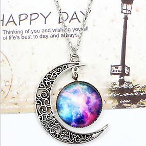 087ebfb3d levne $0.99 Módní šperky-Dámské Náhrdelníky s přívěšky Ryté MOON Galaxie  Crescent Moon Miluji tě