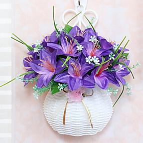 baratos Casa & Cozinha-Flores artificiais 1 Ramo Clássico Contemporâneo Moderno Estilo simples Flores eternas Guirlandas & Flor de Parede