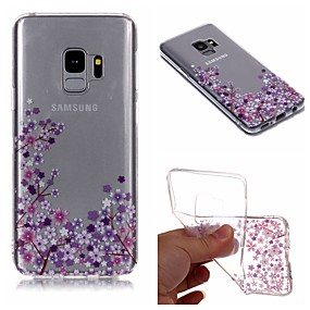 voordelige Galaxy S7 Edge Hoesjes / covers-hoesje Voor Samsung Galaxy S9 / S9 Plus / S8 Plus IMD / Transparant / Patroon Achterkant Bloem Zacht TPU