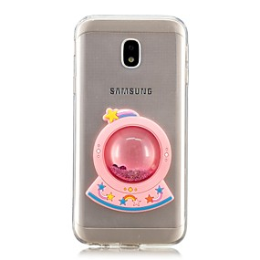 voordelige Galaxy J7(2017) Hoesjes / covers-hoesje Voor Samsung Galaxy J7 Prime / J7 (2017) / J7 (2016) Stromende vloeistof Achterkant Cartoon Zacht TPU