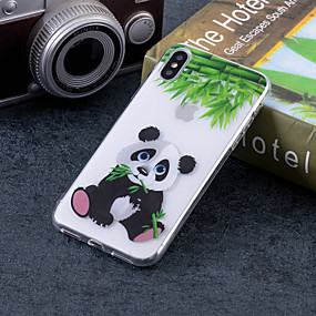 abordables Coques d'iPhone-Coque Pour Apple iPhone X / iPhone 8 Plus IMD / Motif Coque Panda Flexible TPU pour iPhone X / iPhone 8 Plus / iPhone 8