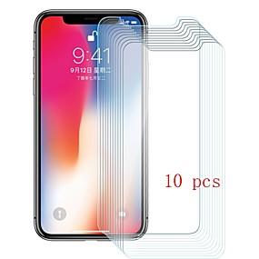 billige Skærmbeskyttelse Til iPhone X-Skærmbeskytter for Apple iPhone X Hærdet Glas 10 stk Skærmbeskyttelse 9H hårdhed / Ridsnings-Sikker
