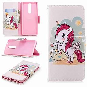 cheap Nokia-Case For Nokia Nokia 5.1 / Nokia 3.1 Wallet / Card Holder / with Stand Full Body Cases Unicorn Hard PU Leather for Nokia 5 / Nokia 3 / Nokia 2.1