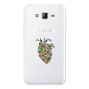 voordelige Galaxy J5 Hoesjes / covers-hoesje Voor Apple J7 (2017) / J7 (2016) / J7 Patroon Achterkant Bloem Zacht TPU