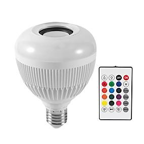 billige LED-smartpærer-KWB 1pc 12 W Smart LED-lampe 1200 lm E26 / E27 G95 28 LED Perler SMD Bluetooth Smart Dæmpbar RGBW 100-240 V / RoHs