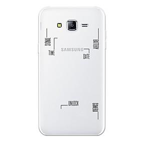 voordelige Galaxy J3(2017) Hoesjes / covers-hoesje Voor Samsung Galaxy J7 (2017) / J7 (2016) / J7 Patroon Achterkant Lijnen / golven Zacht TPU