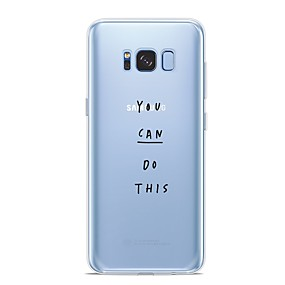 voordelige Galaxy S6 Edge Plus Hoesjes / covers-hoesje Voor Samsung Galaxy S9 / S9 Plus / S8 Plus Patroon Achterkant Woord / tekst Zacht TPU