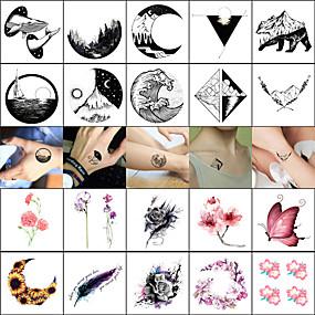 billige Midlertidige tatoveringer-40 pcs midlertidige Tatoveringer Glatt klistremerke / Verneutstyr Ansikt / Krop / håndledd Vannoverføringskort / Decal-stil midlertidige tatoveringer