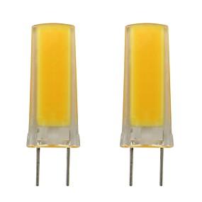 abordables Luces LED de Doble Pin-3w g8 led de silicona bulbo smd 0930 mazorca para iluminación de la casa iluminación de la casa ac 110v 120v blanco cálido / frío (2 unidades)